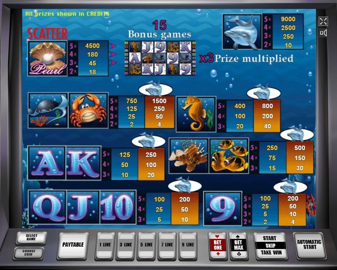 Dolphins pearl описание игрового автомата